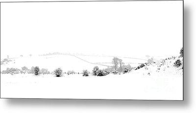 Metal Print featuring the photograph Snowy Panorama by Liz Leyden