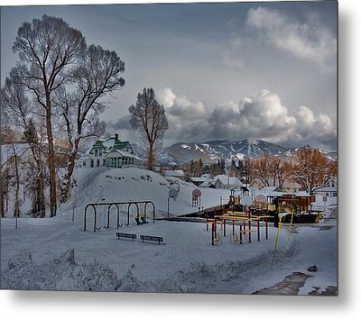 Snowy Playground Metal Print by Matt Helm
