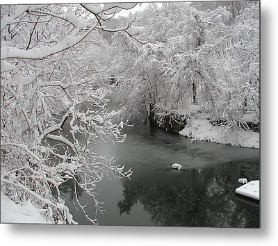 Snowy Wissahickon Creek Metal Print by Bill Cannon