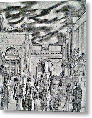 Sodom Marketplace   Metal Print by George Harrison