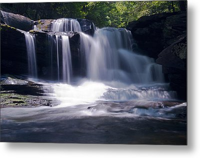 Soft Light Dunloup Falls Metal Print by Shelly Gunderson