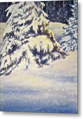 Metal Print featuring the painting Softly Comes The Morning by Carolyn Rosenberger