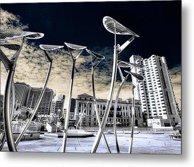Solar City Metal Print by Wayne Sherriff