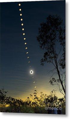 Solar Eclipse Composite, Queensland Metal Print by Philip Hart
