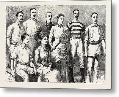 Some English Lawn Tennis Players, Engraving 1884, Uk Metal Print
