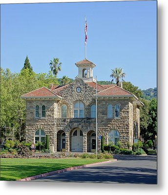 Sonoma City Hall Metal Print by Jenny Hudson