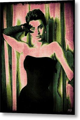Sophia Loren - Pink Pop Art Metal Print