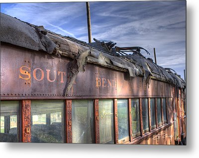 South Bend Railroad - Seen Better Days Metal Print