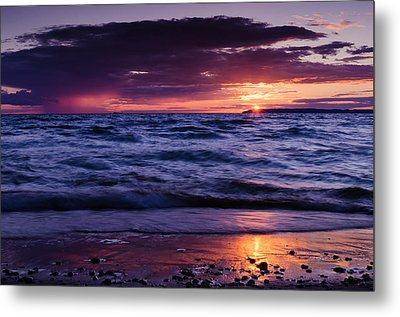 South Manitou Sunset Metal Print by Thomas Pettengill