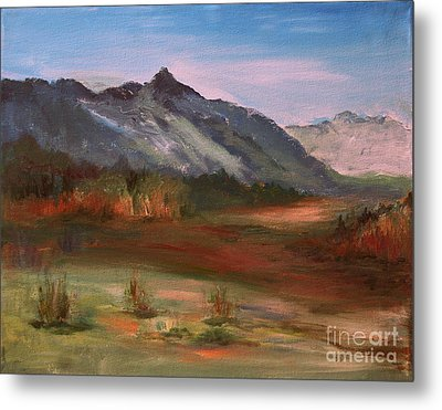 Metal Print featuring the painting South Mountain  by Julie Lueders