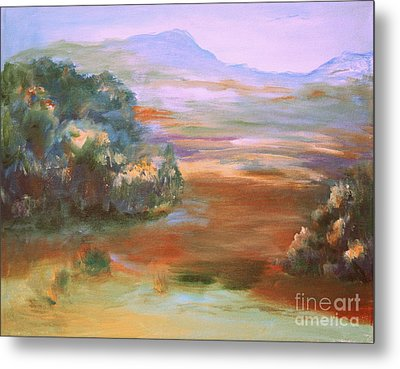 Metal Print featuring the painting South Mountain Second In The Series by Julie Lueders