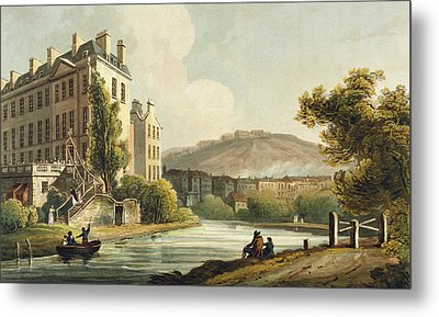 South Parade From Bath Illustrated Metal Print