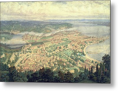 Southampton In The Year 1856 Metal Print by Philip Brannon