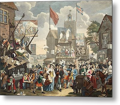 Southwark Fair, 1733, Illustration Metal Print