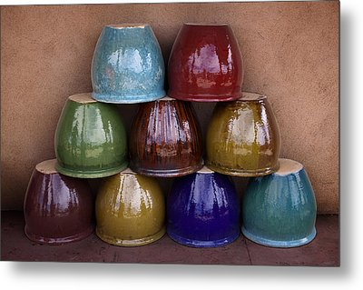 Southwestern Ceramic Pots Metal Print