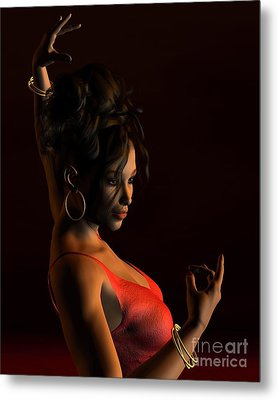 Spanish Flamenco Dancer - 2 Metal Print by Fairy Fantasies