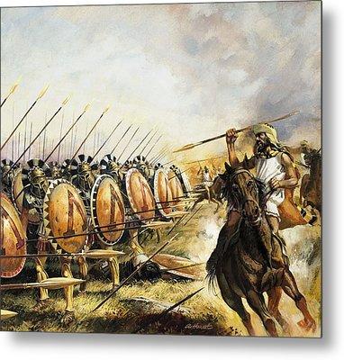 Spartan Army Metal Print by Andrew Howat