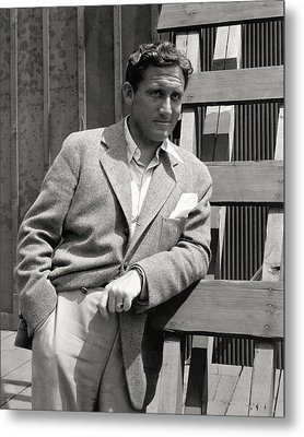 Spencer Tracy Wearing A Tweed Sports Jacket Metal Print by Imogen Cunningham