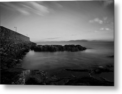 Spiddal Pier Metal Print by Peter Skelton