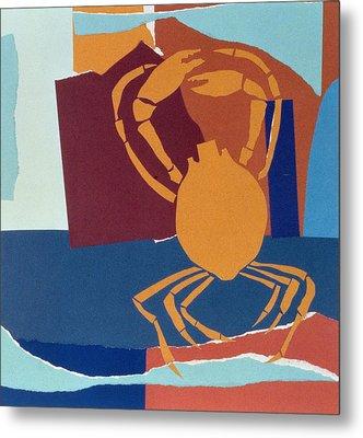 Spider Crab Metal Print by John Wallington