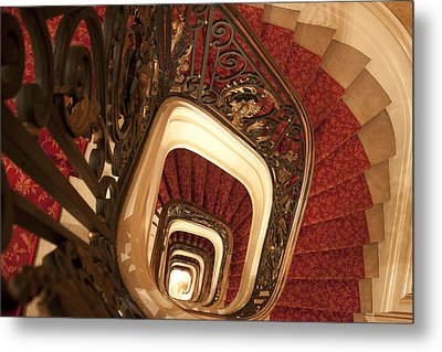 Spiral Stairs Metal Print by Ivete Basso Photography