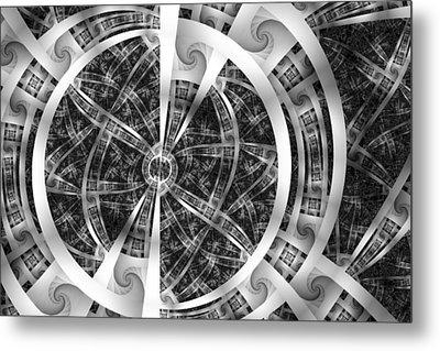Spirals Spokes And Curves No. 3 Metal Print by Mark Eggleston