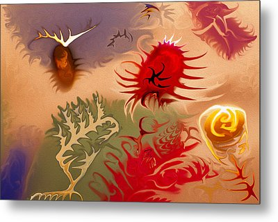 Spirits And Roses Metal Print by Omaste Witkowski