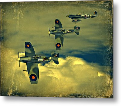 Metal Print featuring the photograph Spitfire Flight by Steven Agius