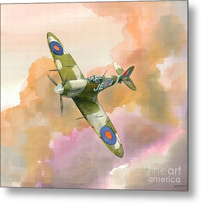 Metal Print featuring the painting Spitfire Study by Michael Swanson
