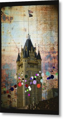 Splattered County Courthouse Metal Print by Daniel Hagerman