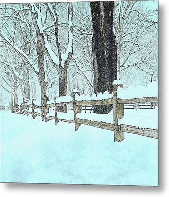 Split Rail Blues Metal Print by John Stephens