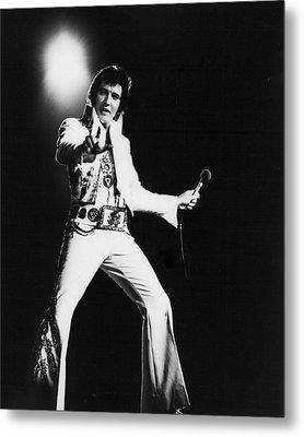 Spotlight Behind Elvis Presley Metal Print by Retro Images Archive