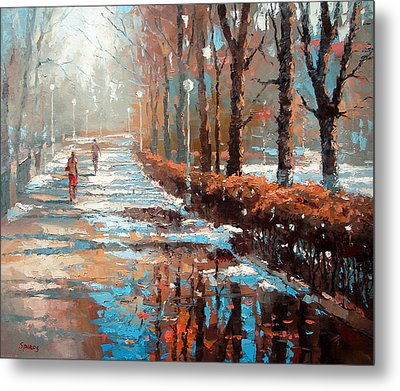 Metal Print featuring the painting Spring Is Coming by Dmitry Spiros