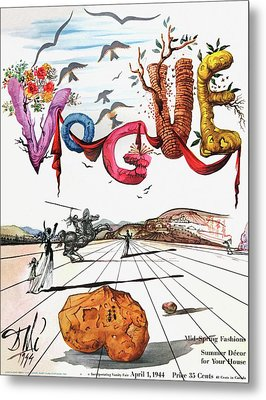 Spring Letters With A Visage Of Dali Metal Print by Salvador Dali