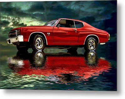 Chevelle 454 Metal Print by Steven Agius