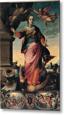 St Catherine Of Alexandria, 1570 - 1611 Metal Print