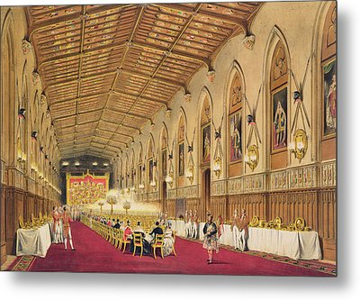 St Georges Hall At Windsor Castle Metal Print by James Baker Pyne