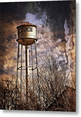 St. Jacob Water Tower 2 Metal Print by Marty Koch