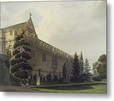 St Johns College Seen From The Garden Metal Print by Frederick Mackenzie