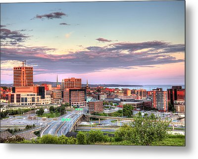Metal Print featuring the photograph St. John's New Brunswick Sunset Skyline by Shawn Everhart