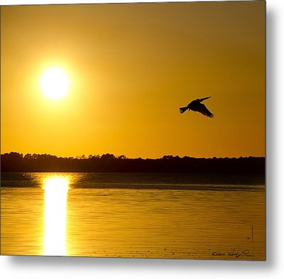 St. Johns Sunset Metal Print by Kathy Ponce