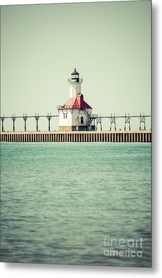 St. Joseph Lighthouse Vintage Picture  Metal Print by Paul Velgos