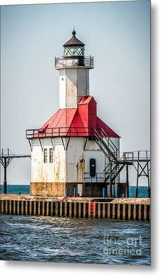 St. Joseph Michigan Lighthouse Picture  Metal Print by Paul Velgos