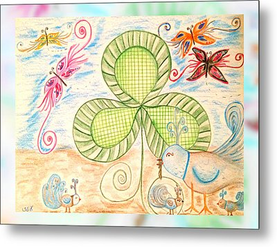 St Pattys Day Lunch Metal Print by Sherry Flaker