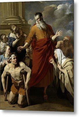 St Paul Healing The Cripple At Lystra, Karel Dujardin Metal Print