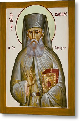 St Savvas Of Kalymnos Metal Print by Julia Bridget Hayes