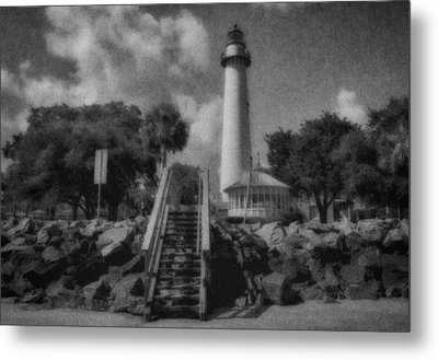 St. Simon's Lighthouse 3 Metal Print by J Riley Johnson