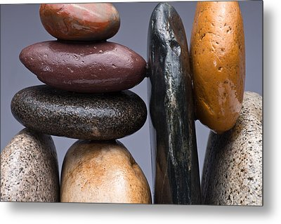 Stacked Stones 2 Metal Print by Steve Gadomski