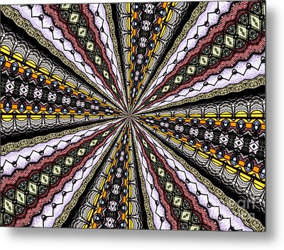 Metal Print featuring the photograph Stained Glass Kaleidoscope 1 by Rose Santuci-Sofranko