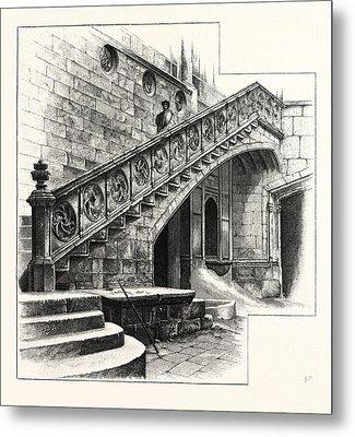 Staircase At The Entrance To The Casa De La Disputacion Metal Print